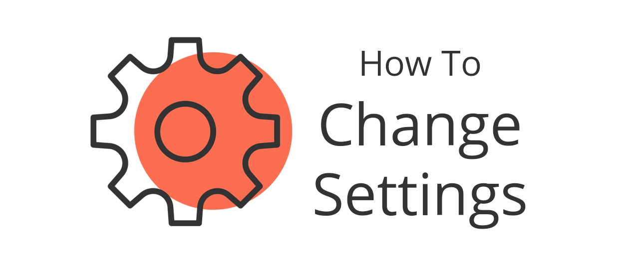 How to change your profile settings