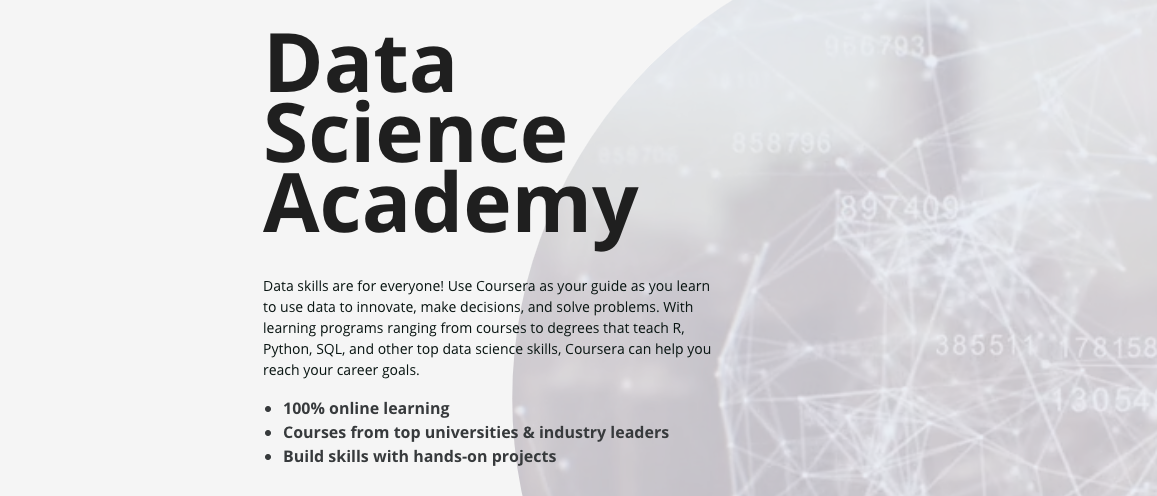 Announcing the launch of the Coursera Data Science Academy!