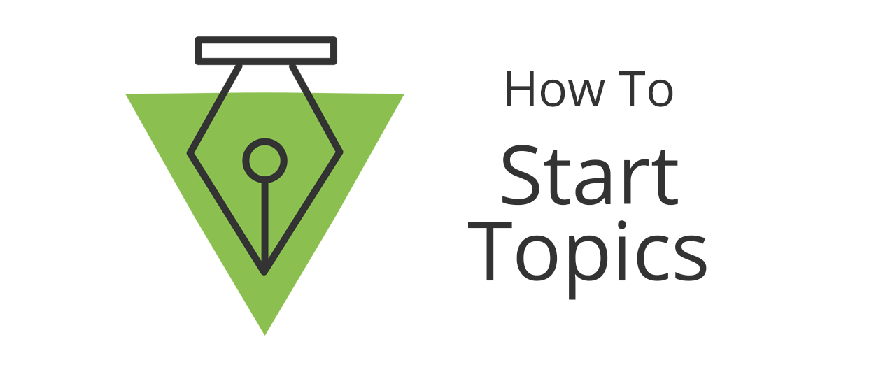 How to create a new topic for discussion or ask a question