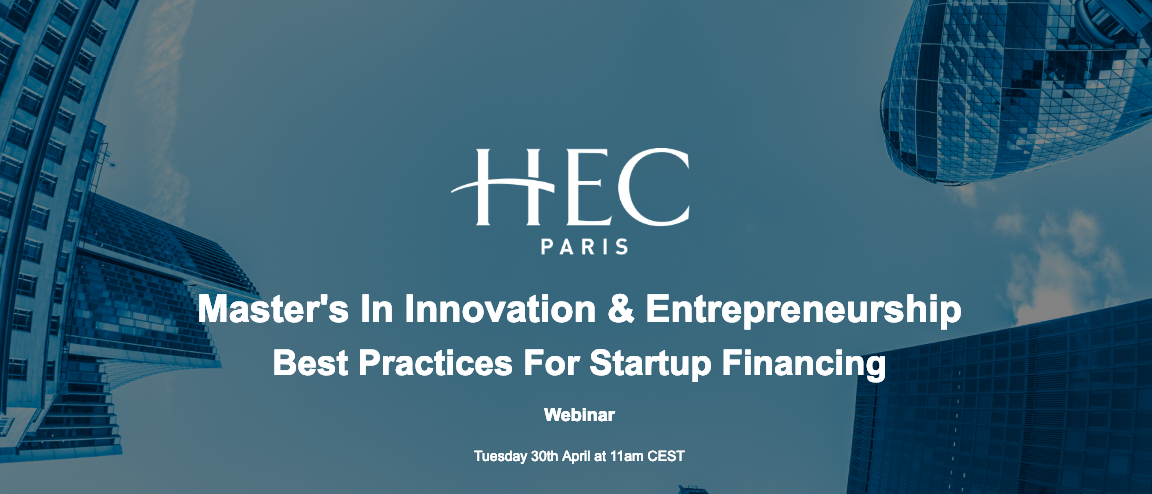 Master's in Innovation & Entrepreneurship Best Practices for Startup Financing