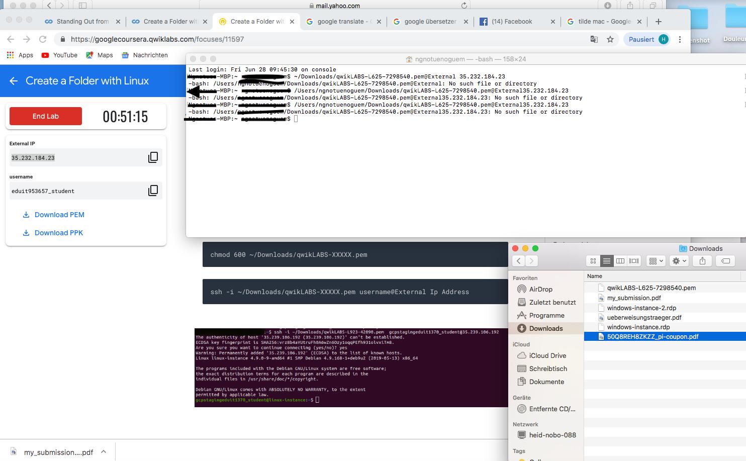 Macos using pem for ssh