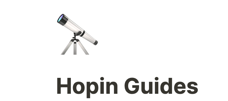 Guides How to Get Started on Hopin