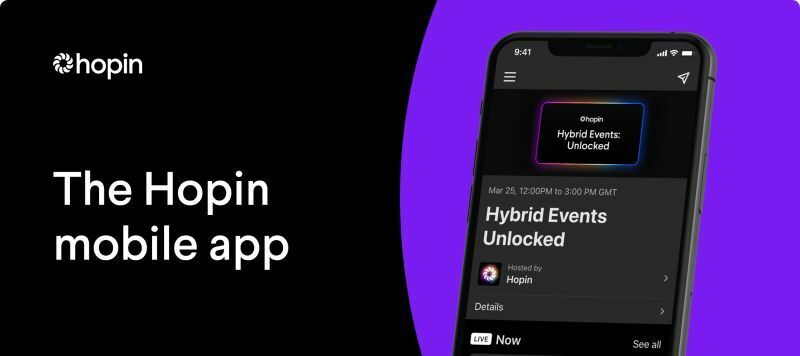 New: The Hopin mobile app is now LIVE!
