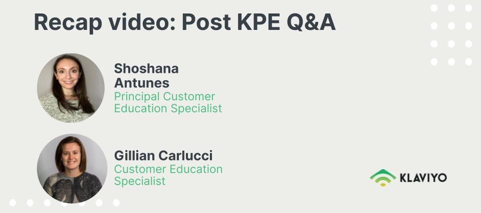 Recap Video: Post KPE Live Q&A