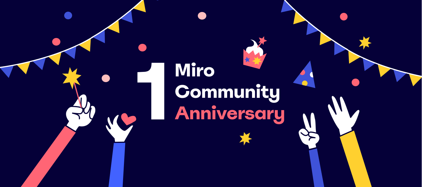 Happy 1 year, online community! Let's eat some cake 🎂