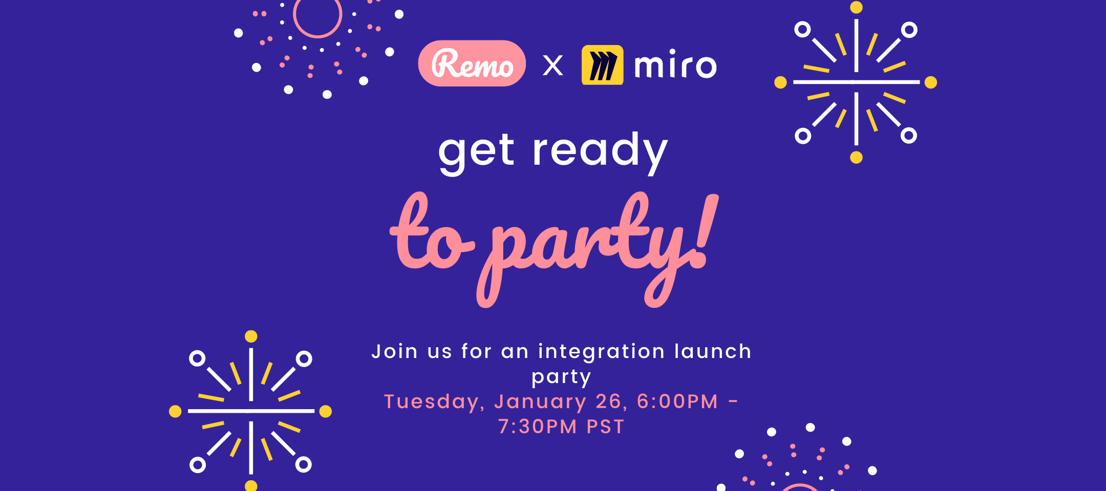 Join us for the Remo / Miro integration launch party!