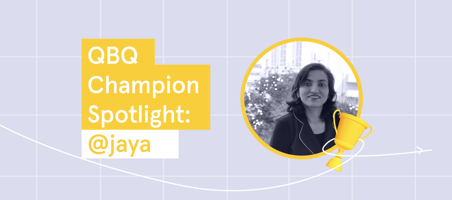 Click to meet @jaya, our QBQ Champion of the week!