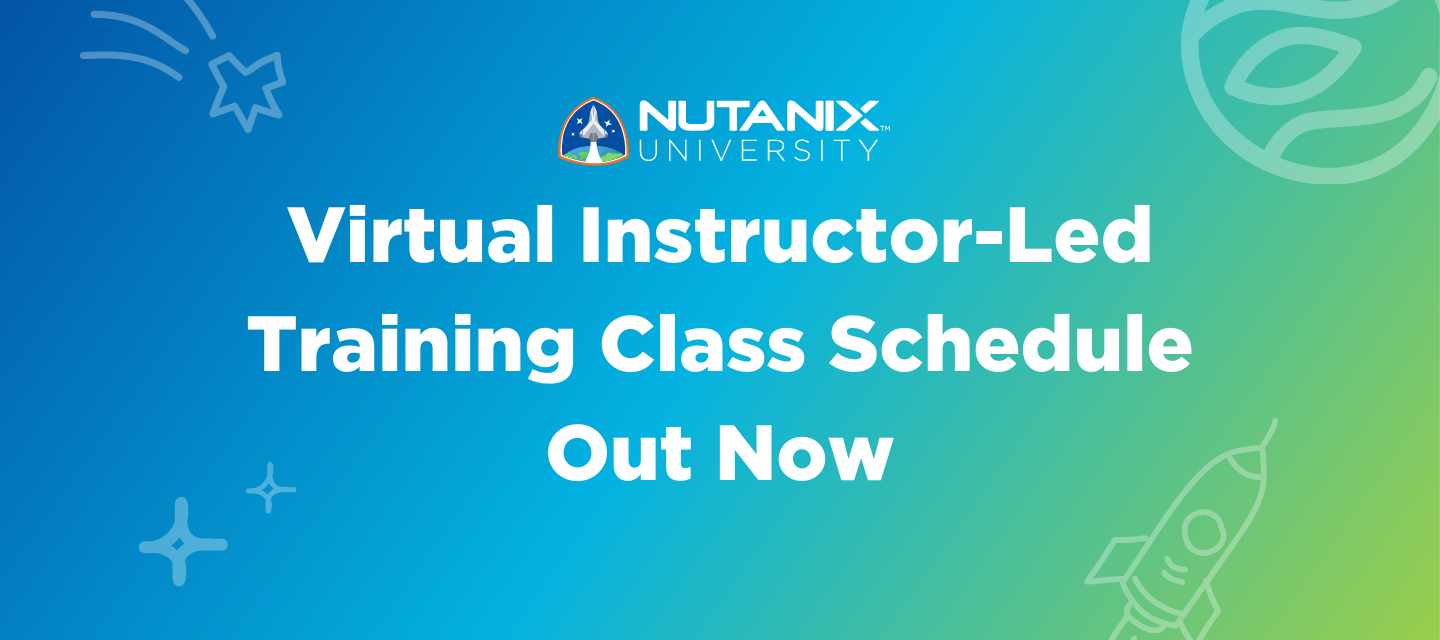 Virtual Instructor-Led Training Class Schedule Out Now