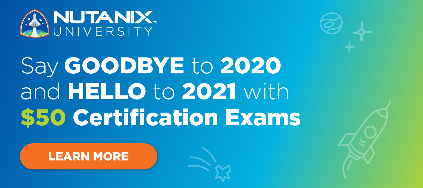 Say Goodbye to 2020 and Hello to 2021 with $50 Certification Exams