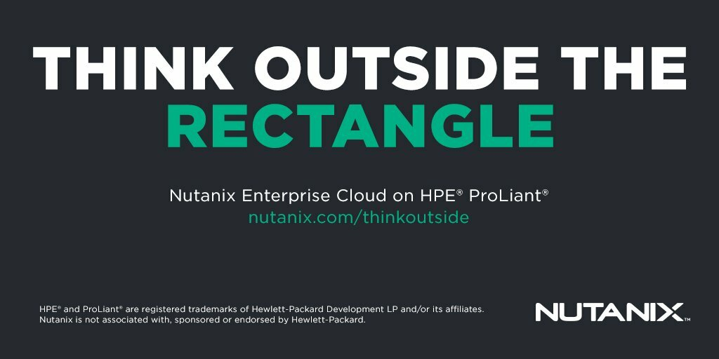 Nutanix on HPE ProLiant is NOW AVAILABLE