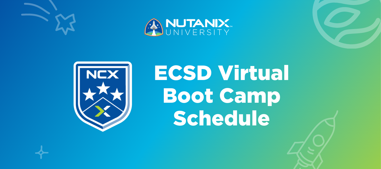 New ECSD Virtual Boot Camp Schedule