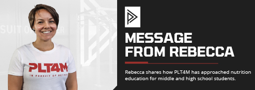 A Message From Rebecca: Our Approach to Nutrition Education