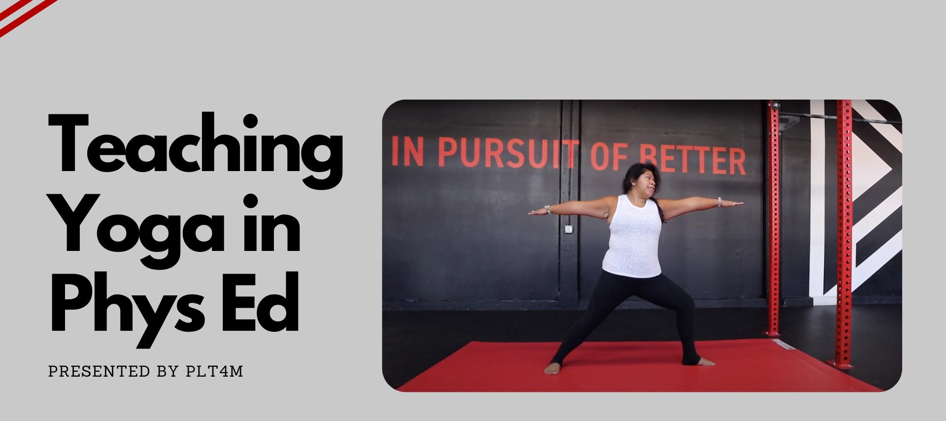 Teaching Yoga in PE