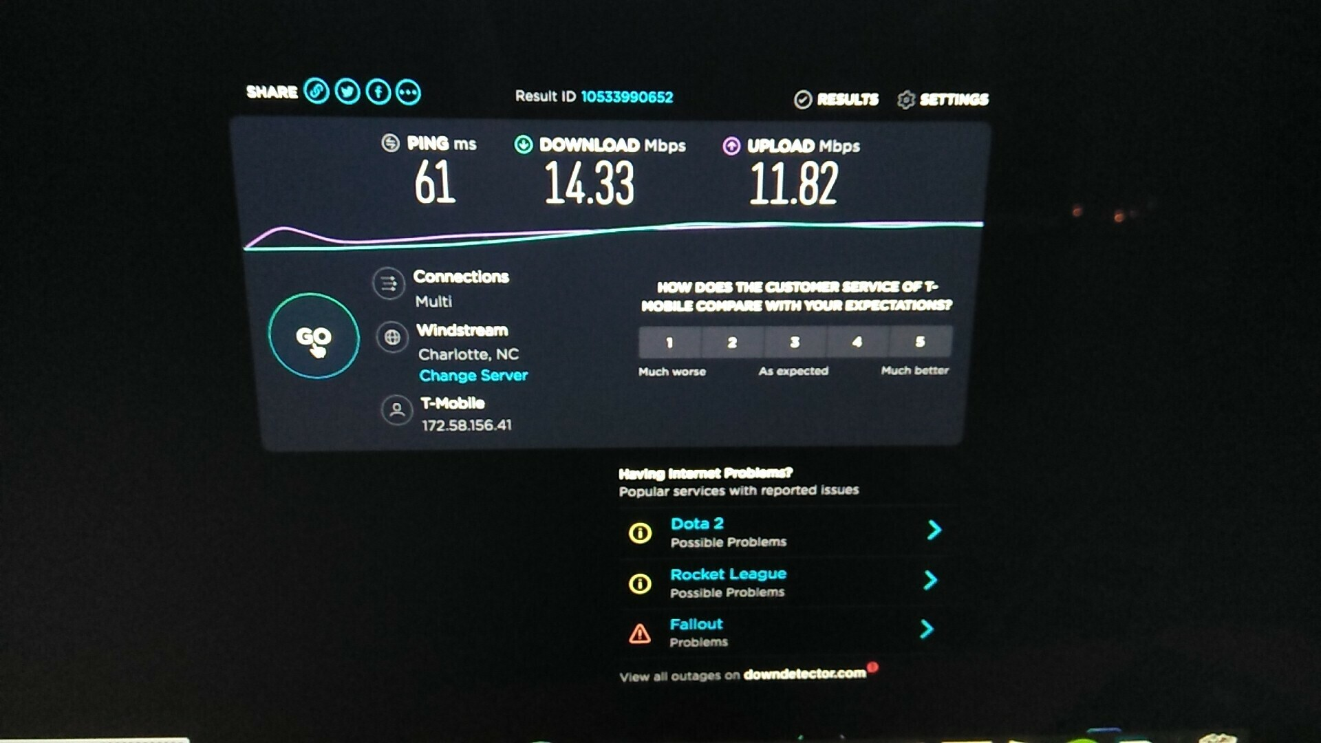 Speed test Home internet | T-Mobile Community