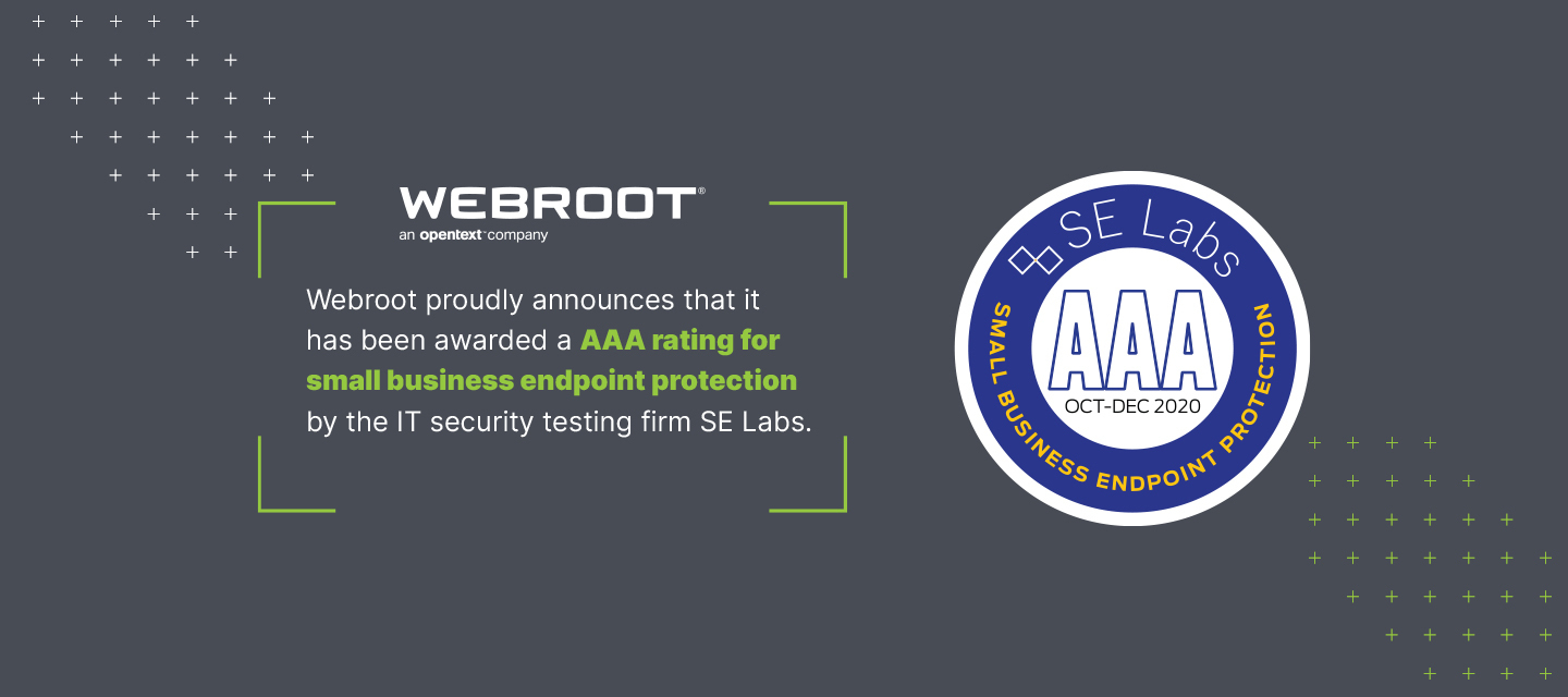 Webroot gets AAA rating in first official testing