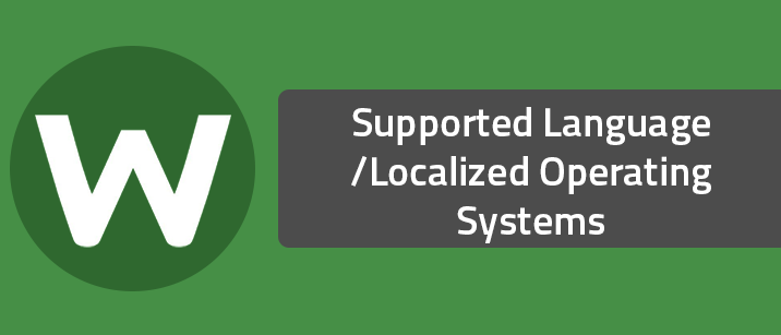 Supported Languages / Localized Operating Systems