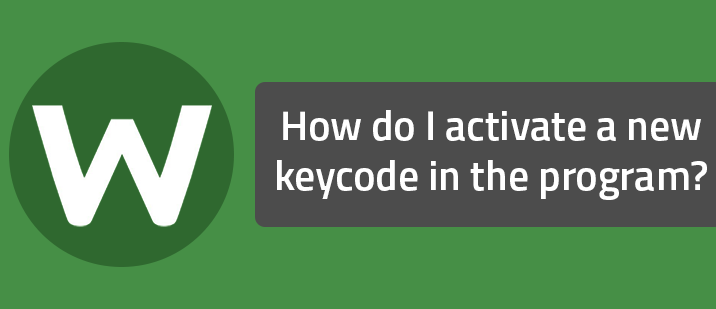 How do I activate a new keycode in the program?