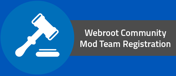Webroot Community Mod Team Registration