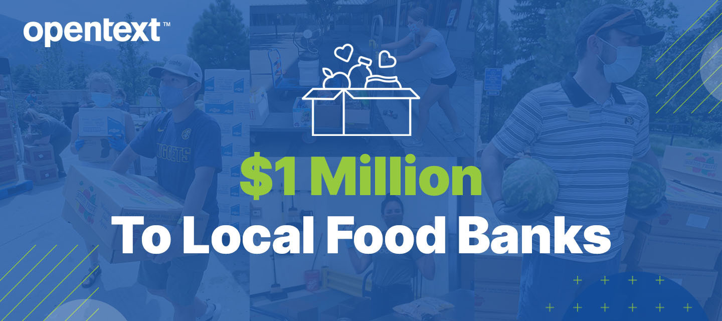 OpenText Announces $1M USD Donation to Fight Food Insecurity