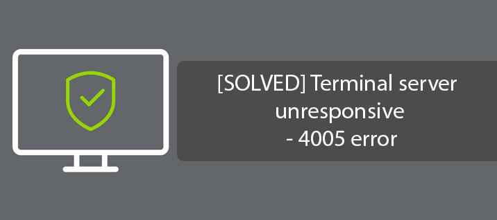 [FIXED] - Terminal server unresponsive - 4005 error