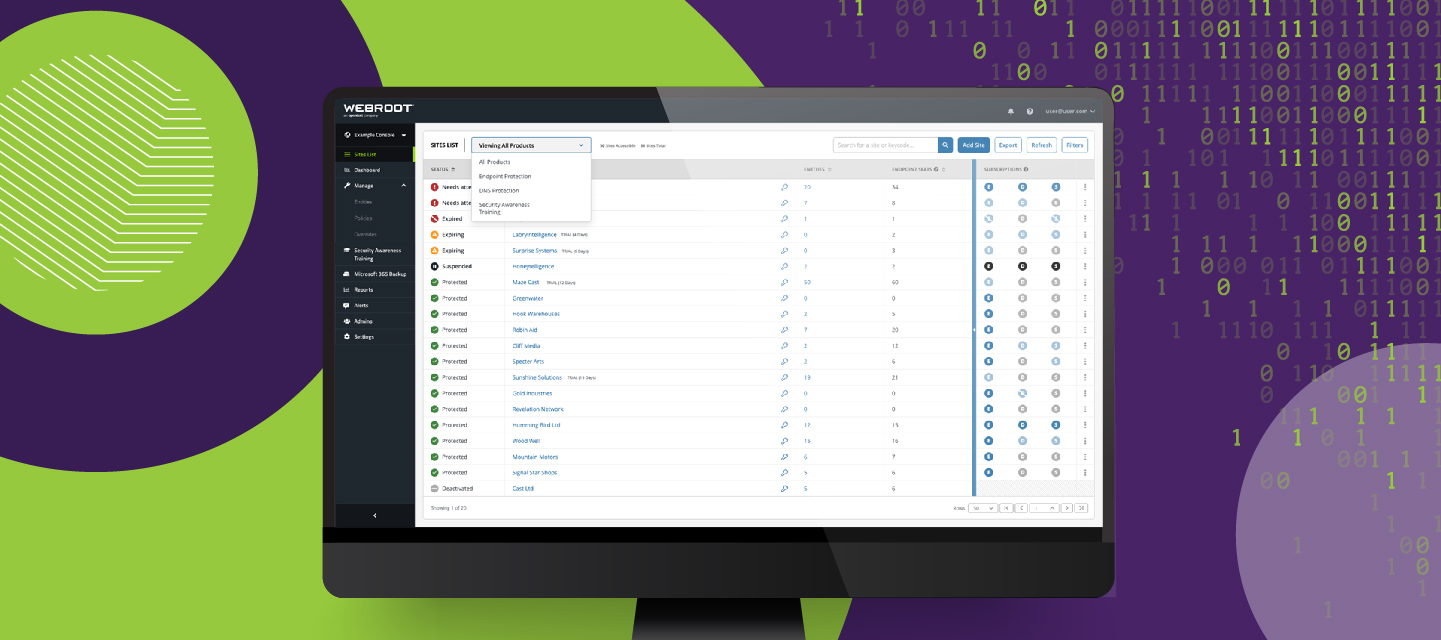 Product Update Bulletin: Webroot Console 6.1