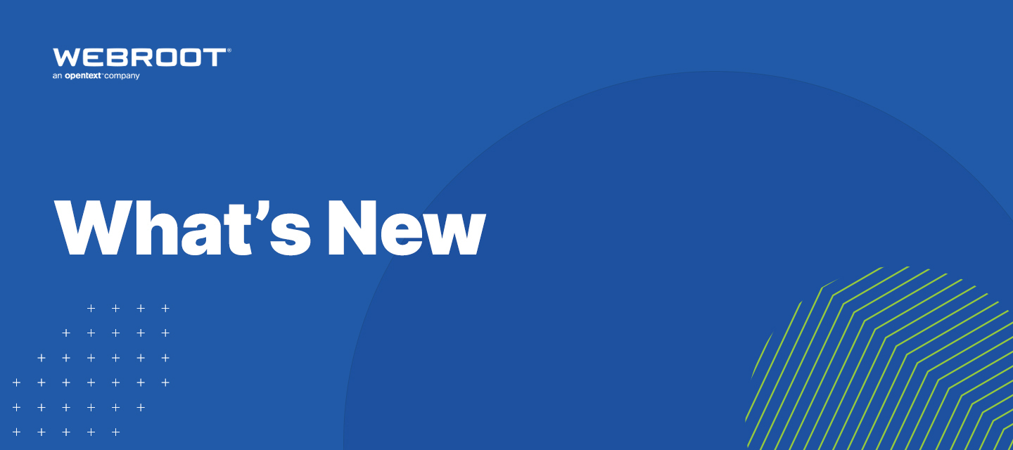 What's new at Webroot: October 2020