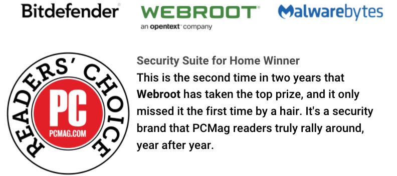 PCMag Readers Rank Webroot Best Antivirus and Security Suites in 2021