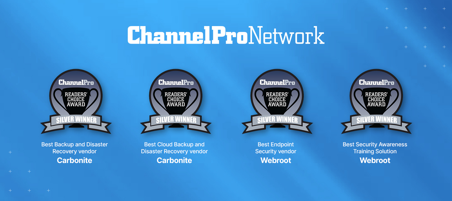 ChannelPro Network Readers' Choice Award: Webroot and Carbonite take Silver!