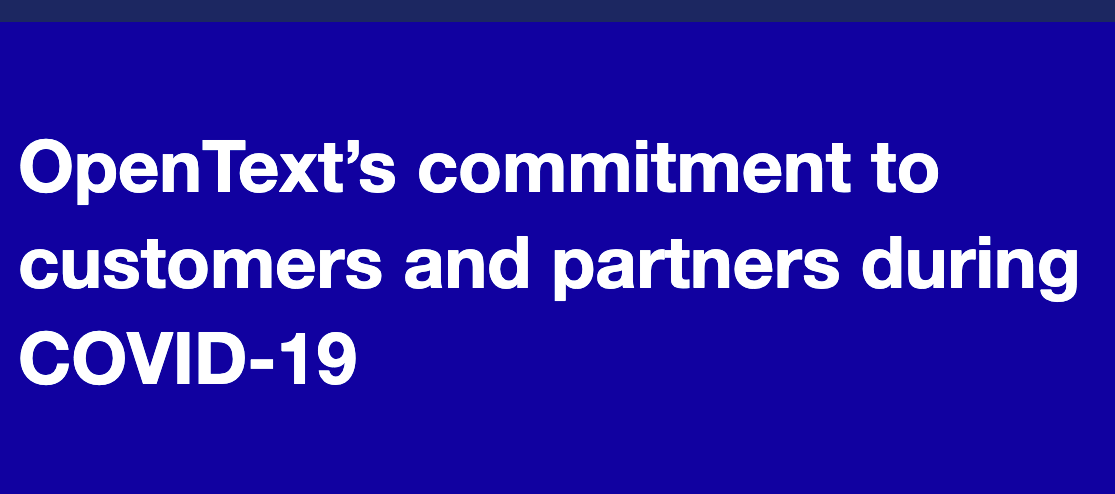 OpenText's commitment to our customers and partners