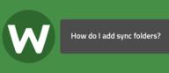 How do I add sync folders?