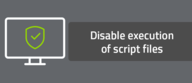 Disable execution of script files